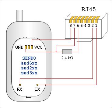 Схема кабеля Sendo snd2xx