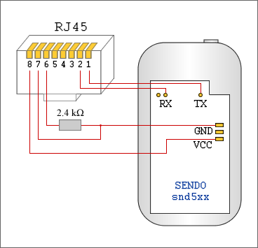 Схема кабеля Sendo snd5xx